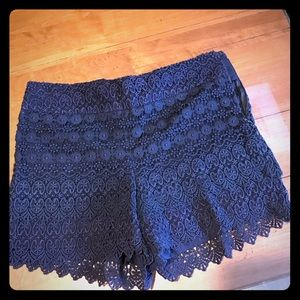 Loft Navy lace shorts